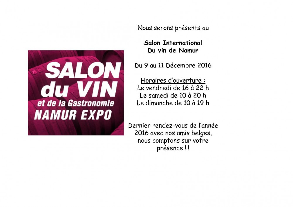 Salon du vin de namur paul herpe grands vins en for Salon du vin champerret